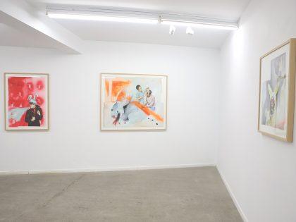 """Cuca Nelles, """"I'm a rabbit"""". Vista de la exposición. ©Ángel Bustamante"""