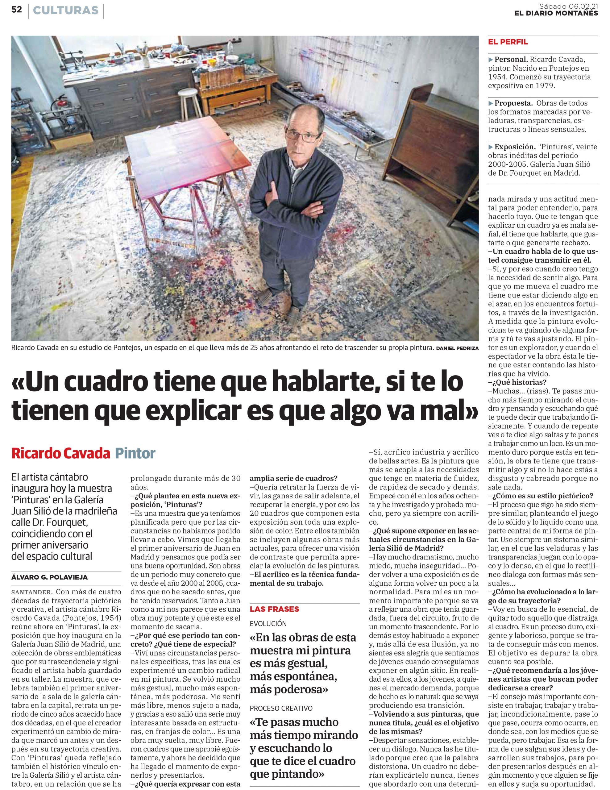 El Diario Montanes, Ricardo Cavada, Galeria Juan Silio