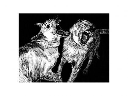 Quique Ortiz: Sin título, 2021. Grafito sobre papel, 21x29,7 cm.