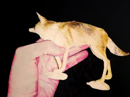 Quique Ortiz: Sin título, 2020. Óleo sobre lienzo. 89x116 cm.