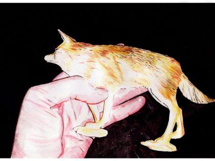 Quique Ortiz: Sin título, 2021. Gouache sobre papel. 21x29,7 cm.