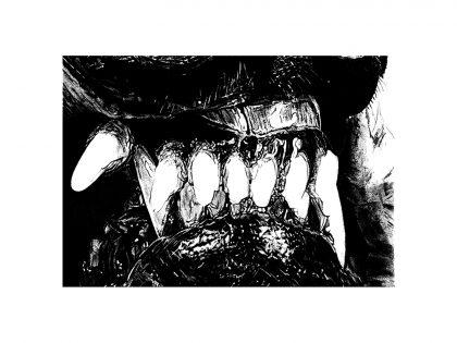 Quique Ortiz: Sin título, 2020. Grafito sobre papel, 21x29,7 cm.