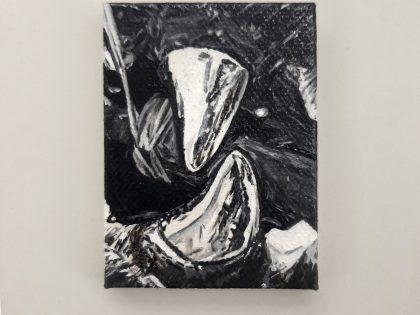 Quique Ortiz: Sin título, 2021. Óleo sobre lienzo. 8x6cm.