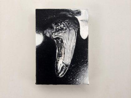 Quique Ortiz: Sin título. Óleo sobre lienzo. 7x5cm.