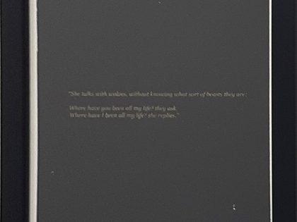 Quique Ortiz: Margaret Atwood, 'Let us Praise Stupid Women'. Good Bones and Simple Murders, 1994'. 2021. Serigrafía sobre papel. 29,7x21cm