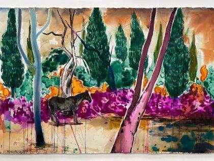 Abraham Lacalle: Doma, 2020. Acuarela sobre papel. 102x152cm.