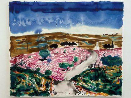 Abraham Lacalle: Desde el bosque 1, 2020. Acuarela sobre papel. 53x70cm.