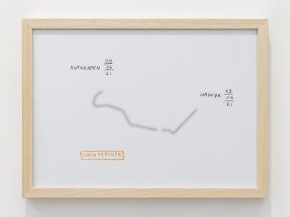Manuel MInch: UACU3336439, 2021. Cera y lápiz sobre papel, 32x45 cm