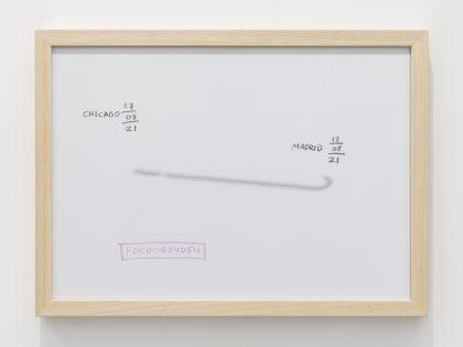 Manuel MInch: FDCU0624054, 2021. Cera y lápiz sobre papel, 32x45 cm