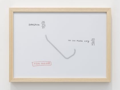 Manuel MInch: NSSU0110678, 2021. Cera y lápiz sobre papel, 32x45 cm