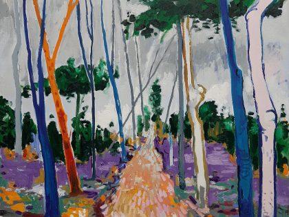 Abraham Lacalle: Camino blando, 2021. Óleo sobre lienzo. 98x114cm