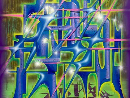 Néstor del Barrio: Estañado, 2021. Acrílico sobre lienzo. 200x150,5 cm.
