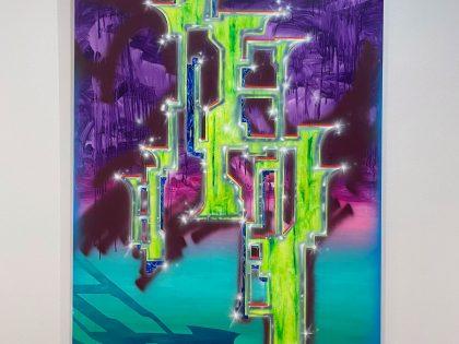 Néstor del Barrio: La torreta, 2021. Acrílico sobre lienzo. 200x145 cm.