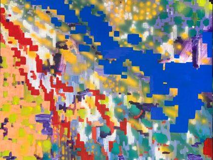 Néstor del Barrio: Circulación, 2020. Acrílico sobre lienzo. 100x81 cm.
