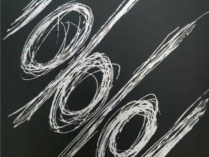 Manuel Minch: X-hora, 2021. Pintura sobre aluminio. 34x25x3 cm.