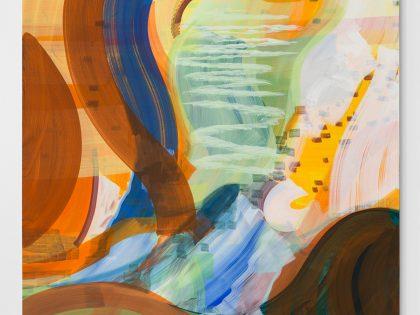 Ana Manso: Nuvem-Mar, 2018. Óleo sobre lienzo. 213z143 cm. ©Bruno Lopes