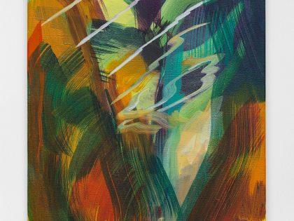 Ana Manso: Cobre, cobra, cobre, 2021. Óleo sobre lienzo. 55x33 cm. © Bruno Lopes