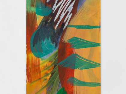 Ana Manso: sombra, 2021. Arcilla y óleo sobre lienzo. 70x30 cm. ©Bruno Lopes