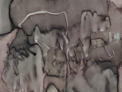 José Díaz: Teja y catarata, 2020. Óleo sobre lino. 195x150cm. ©Rodrigo Loureiro y Almudena Cisneros