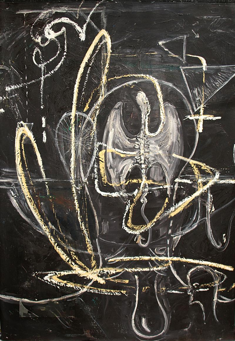 Colaboración Manuel Ocampo - Irene Iré. Cosmic Negro