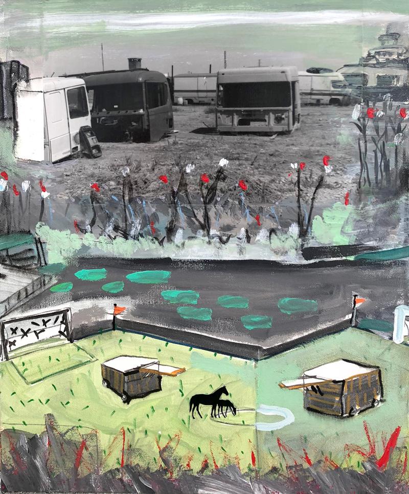 Juan Ugalde. Camiones y caballos